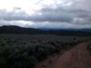 Photo from my long run in the hills at sunrise.