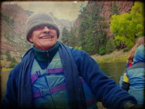 Uncle Stewart on a river rafting trip in 2008