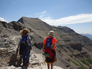 Near the summit of Mount Timpanogos.