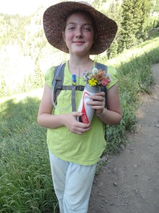 Timpanogos wildflowers picked in memory of Uncle Stewart, placed in his hands in the casket at the funeral.