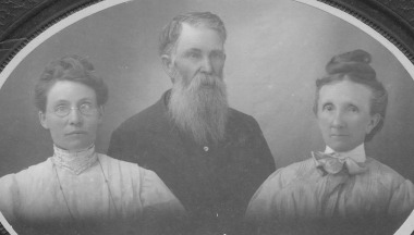 Brown, Abia William with wives Emma Sibley and Lucinda Stewart